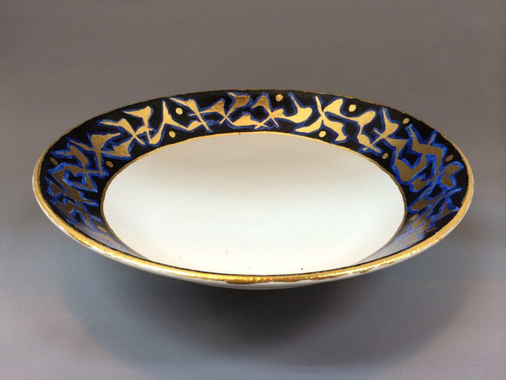金彩色絵皿